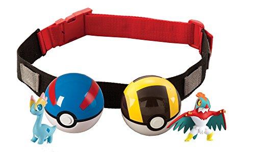 Pokémon T18206B- Clip 'n' llevar Poke bola cruz cinturón (surtido, m