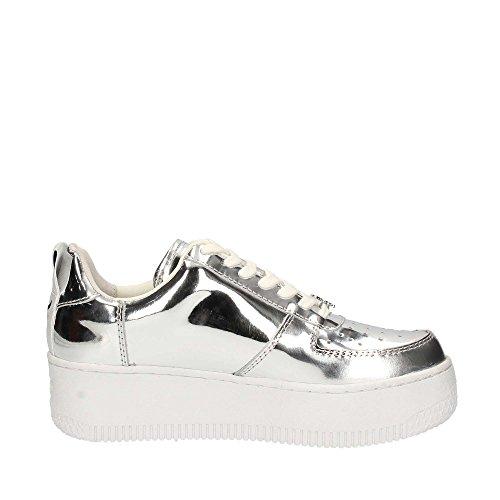 Windsor Smith Sneakers Racerr Leder Silber metallic Silber (Argento)