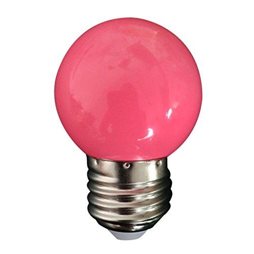 Clode® Energie sparen LED Lampe multicolor Glühbirne Glühlampe LED Leuchtmittel, LED Birnen Party Dekoration (Rosa) (Rosa Glühbirnen)