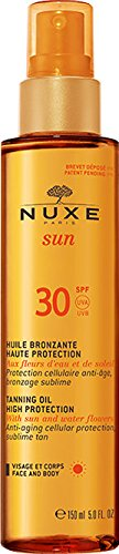 Sun Tanning (Nuxe Sun Tanning Oil For Face And Body SPF30 150ml)