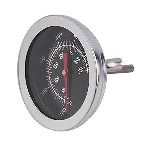 Dynamovolition Edelstahl BBQ Smoker Pit Grill Bimetall-thermometer Temperaturanzeige mit Dual Gage 500 Grad Kochen Werkzeuge (Aus Rostfreiem Stahl Dual-bar)