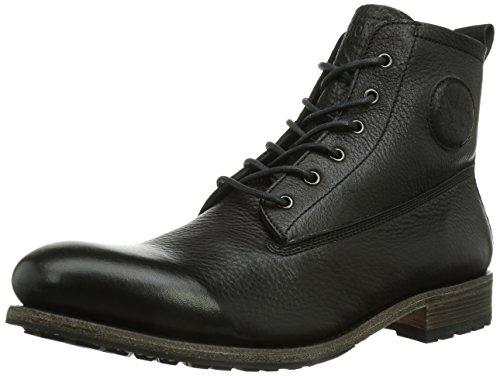 Blackstone Mid Lace Up Boot Fur, Bottines Chukka avec doublure intérieure chaude homme Noir - Noir