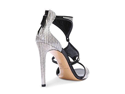 Sandales à talons hauts Casadei en cuir zebrine - Code modèle: 8148N123.FH8T500C27 Beige