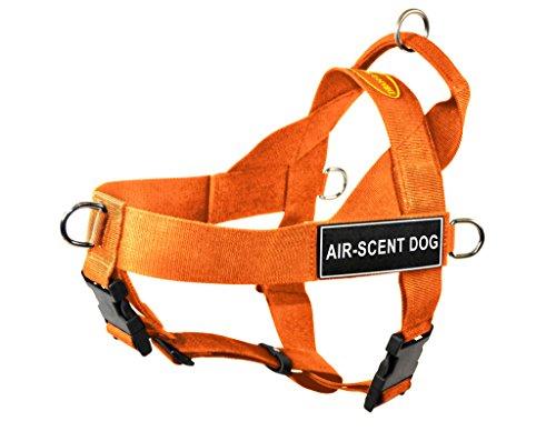 Dean & Tyler DT Hundegeschirr, universal, gegen Ziehen, mit Air-Duft-Dog-Aufnähern, X-Large, Orange -