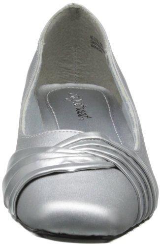 Easy Street Tidal Breit Rund Textile Stöckelschuhe Silver