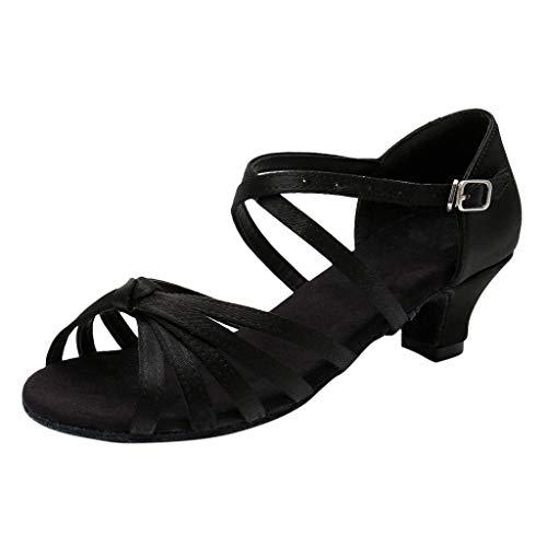 Sannysis Kinder Latein Tanzschuhe Mädchen Prinzessin Sandalen Pumpen Ausgestelltes Standard Ballsaal High Heels Dance Schuhe mit Absatz -