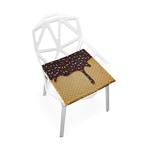 Enhusk Praline Bitterkeit Benutzerdefinierte Weiche rutschfeste Platz Memory Foam Stuhlpolster Kissen Sitz Für Home Küche Esszimmer Büro Schreibtisch Möbel Innen 16x16 Zoll