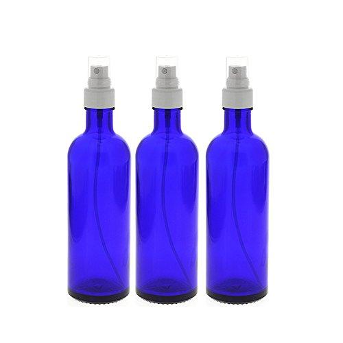 Blauglas-Flaschen mit Zerstäuber, leere Kosmetex Sprühflasche, 200 ml Glasflasche, 3× 200 ml