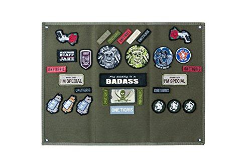 OneTigris Taktische Militär Patch Holder Platte Klett-Teller (Ranger Grün)