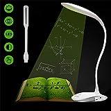 Bureau LED, Lampe Portable Flex Flexible Lampes Lampadaire LED Lampes Lampes Dimmable Touch 3 niveaux Luminosité Flexible Bras Lampes de lecture Lampe de voyage Lampadaire Lampadaires Rechargeables