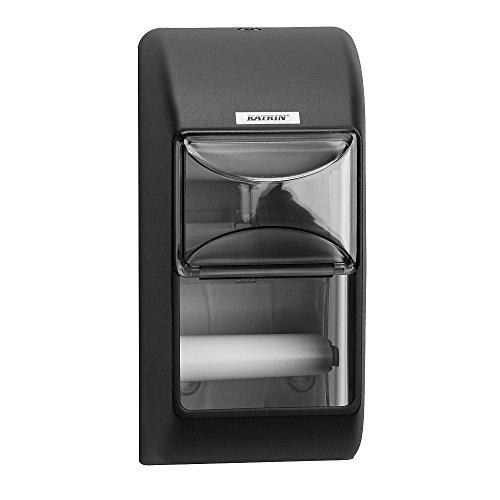 Katrin 104452 2-Roll Toilettenpapierspender, Schwarz