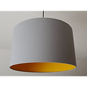 "Lampenschirm ""Senfgelb-Steingrau"