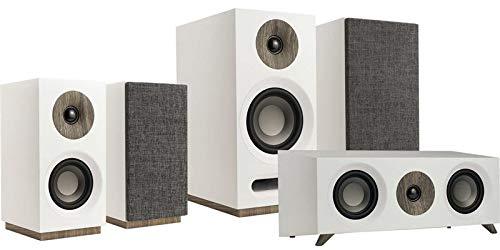 Jamo Studio 8 Lautsprecher aus Holz fürs Heimkino, Weiß X-series Dual-subwoofer-box