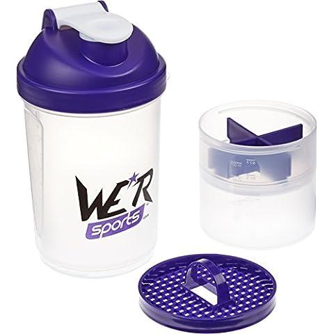 We R Sports XPS4000 - Shaker de batido de proteínas de 500ml, color morado
