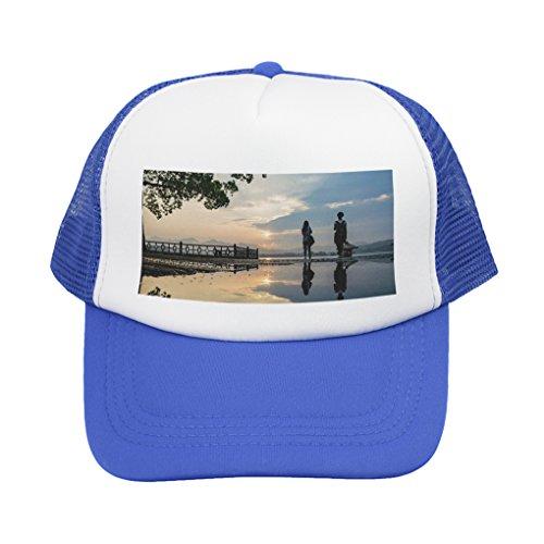 Personalisierte Half Mesh Cap Baseball Kappe personalisierbar Baseballmütze Strand Mütze Trucker Hut Bedruckt mit Ihrem Wunschbild oder Wunschtext -