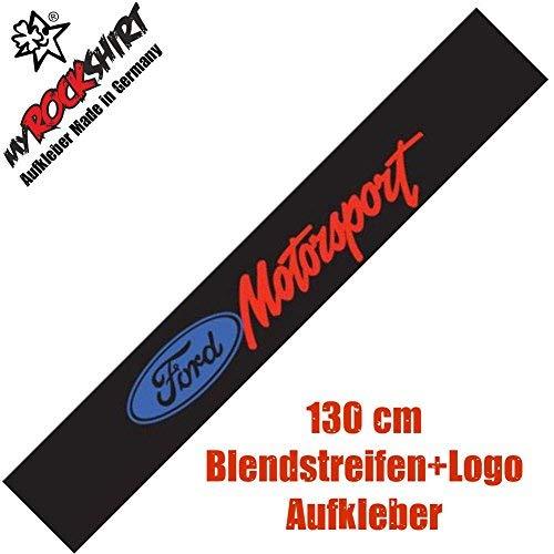 eibenaufkleber kompatibel für Ford Motorsport Blendstreifen + Logo Aufkleber Set ()