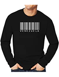 Teeburon Venezuela Barcode Camiseta Manga Larga