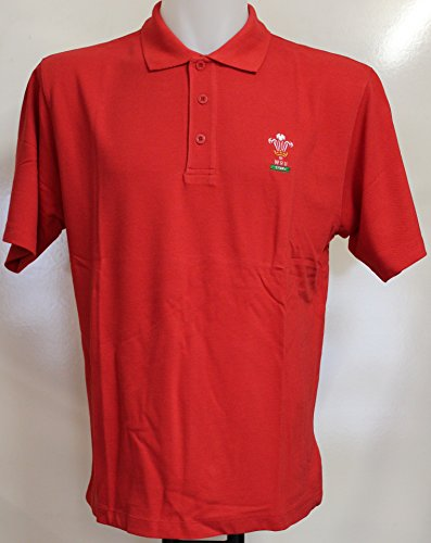Wales Rugby Jungen Polo shirt (rot) Small Boy's