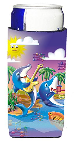 dolphins-playing-music-michelob-ultra-koozies-for-slim-cans-aph2485muk
