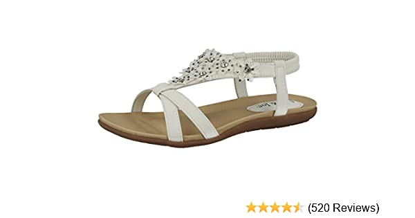 37da8b64aad76 Jo & Joe Ladies Faux Leather Peep Toe Sling Back T-Bar Flower Fashion Flat  Diamante Flip Flop Sandals Size 3-8