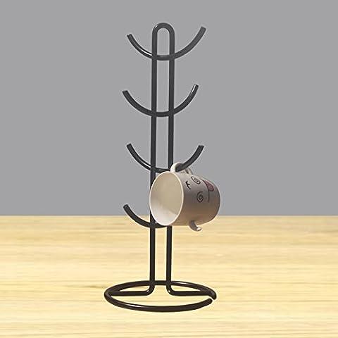 XY&GKGlas hängend Rack Tasse Kaffee Tasse Rack ablassen Halter, mit besten Service (Natural Wood Cabinet)