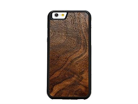 Natural Collection–Holz Geschnitzt Schutzhülle für iPhone 6–Cover handgefertigt in den USA, plastik, Walnut Burl, Traveler