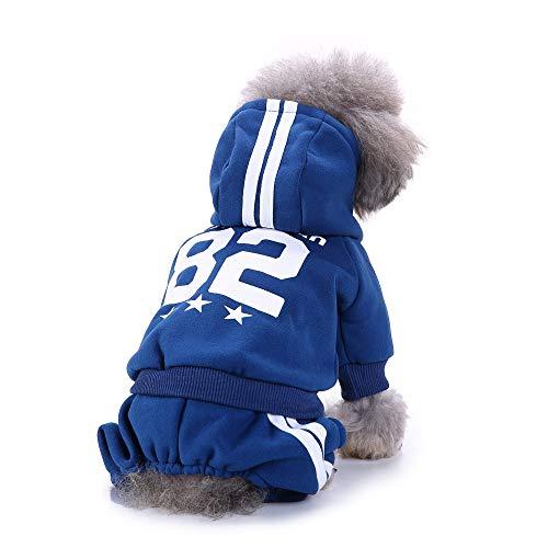 Ropa de Perros Abrigo Suéter de Algodón Caliente Suave con Capucha Camiseta Casual para Mascotas Perros Gatos Cuatro piernas Ropa Deportiva Gusspower