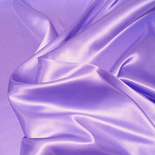 TOLKO Satin Meterware mit edlem Glanz als Mode- Gardinen- und Vorhang-Stoff in Lavendel | Breite: 110 cm | Preiswert, Blickdicht und Pflegeleicht, Zum Nähen und Basteln