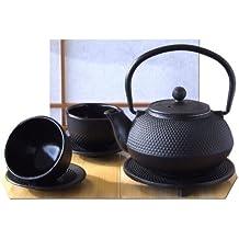 Coppe , stile giapponese Sottopentola & Tetsubin Ghisa hobnail nero