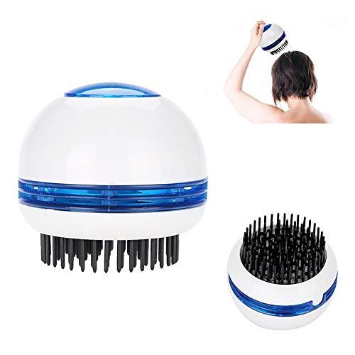 Elektrische Kopfhaut Massagebürste, Kopf Massagegerät Entspannung Stress Relief Wasserdichte Vibration Haar Scrubber Brush Antistatische Kamm für Haarwachstum (Stress Massagegerät Kopfhaut Relief)