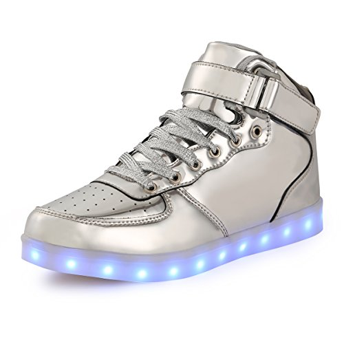 FLARUT Kids LED Light up Shoes 7 Colors Flashing Trainers High-top Charging Sneakers with for Boys and Girls
