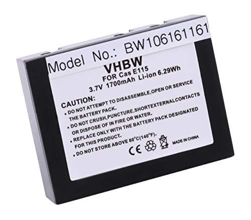 vhbw Li-Ion Akku 1700mAh (3.7V) für PDA, Handheld, Pocket PC Casio Cassiopeia E100, E105, E115, E125, E125 CSC, E500 wie JK-210LT, JK210LT.