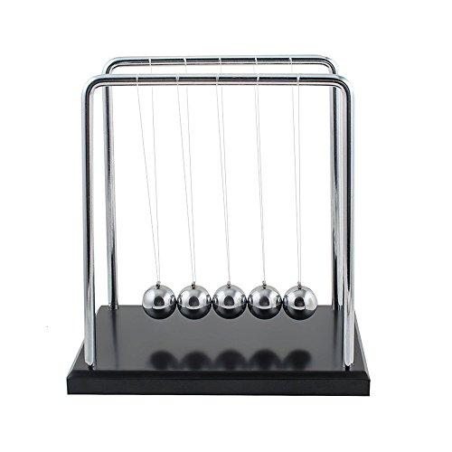 Newton's Cradle Balance Ball, Newton Pendulum with Metal Swing Ball and Sturdy Base Perfect Home Office Decor (Klassenzimmer Dekorationen Billig)