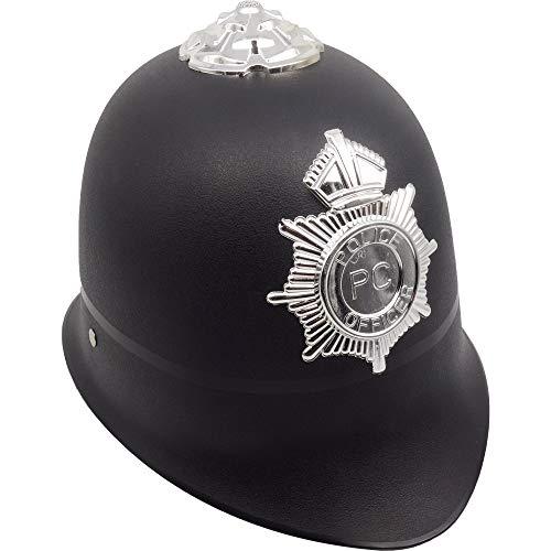 German Trendseller® - Sergeant Hut - Deluxe ┃ Britischer Polizist ┃ Fasching ┃ Karneval ┃ Bobby Custodian Hut (Die Britische Polizei Kostüm)