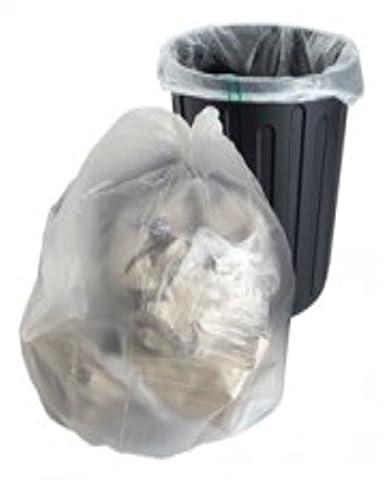 10sachets en polyéthylène robuste en plastique transparent Sacs poubelle à grand Sacs Taille 45,7x 73,7x 99,1cm Poubelle Poubelle Poubelle recyclage