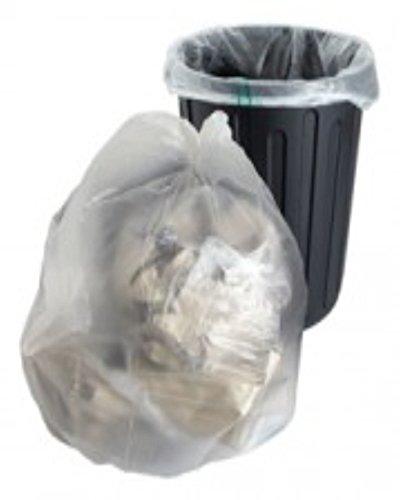 10 grandes transparente plástico bolsas de basura polietileno sacos tamaño 18 x 29 x 99,06 cm basura cubo de reciclaje de residuos