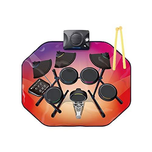 TTGE Kinderglühen musikmatte Multifunktionale intellektuelle Entwicklung Trommel Spielzeug 80 * 63 cm