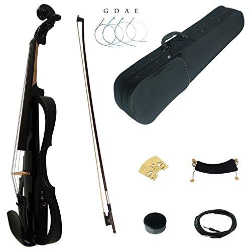 assivholz Fortgeschritten 3-Band EQ Elektrische Violine Geige Set mit Ebenholz Beschläge (SDDS1801) ()