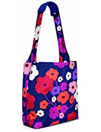BUILT Comfy Reusable Shopping Tote Bag, Lush Flower