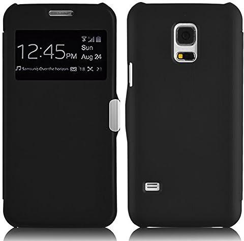 Galaxy S5 Mini Hülle, JAMMYLIZARD Fenster Flip Etui Case mit Magnetverschluss für Samsung Galaxy S5 Mini,