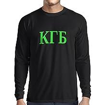 Langarm Herren t shirts Politisch - KGB, UdSSR - CCCP, Russisch, Русский