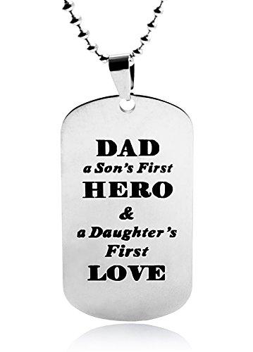Nickel-5-spray (LITTONE® Dad to Son Dogtag Anhänger Halskette Edelstahl Dog Tag Family Love Geschenk Ketten Herren (EUALITTONEOO2-B))
