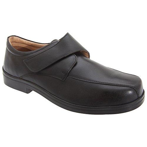 Roamers - Chaussures de ville extra larges - Homme Noir