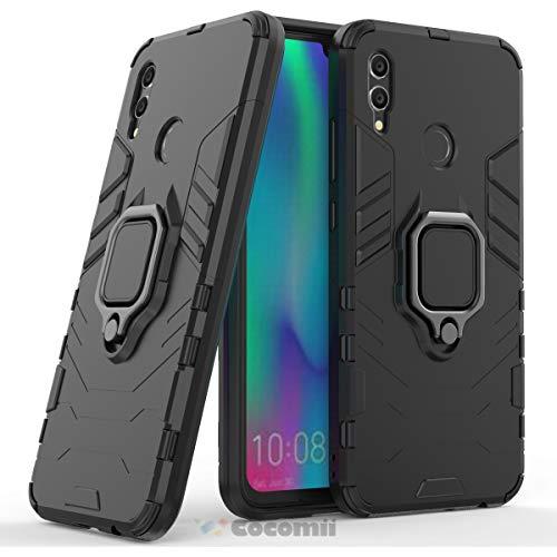 r Armor Huawei Honor 10 lite/P Smart 2019 Hülle [Strapazierfähig] Ring Ständer [Funktioniert Mit Magnetischer Autohalterung] Case for Huawei Honor 10 lite (B.Jet Black) ()