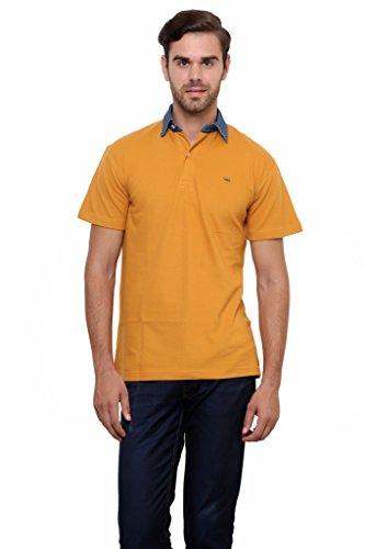 Lemon-And-Vodka-Mens-Polo-Tshirt-with-Denim-Collar-LNV-DNMCLR-LBROWNBrown