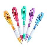Saniswink 2Creative Multifunktional Schule Büro Netzteil Kugelschreiber mit LED Licht glatt und gut Geschrieben Stift Zufällige Farbauswahl
