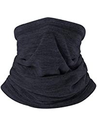 VERTAST - Calentador de Cuello de Forro Polar para Invierno, Grueso, Largo Cuello, Bufanda, Resistente al Viento, para pasamontañas, Gorro elástico, tamaño Universal, Azul Oscuro