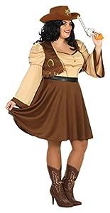 Atosa-31491 Disfraz Mujer Cowgirl Vaquera, Color Amarillo, XXL (31491)