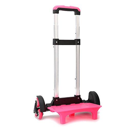Trolley Carrello per Zaino Carrellino Porta Borsa Trasporto (Pink, 6 Ruote)