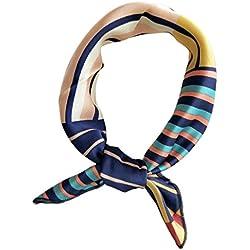 SimpleLife Señoras de Las Mujeres pequeña Cabeza Cuadrada Cuello Cuadrado Bufanda mantón 50cm Geométrico
